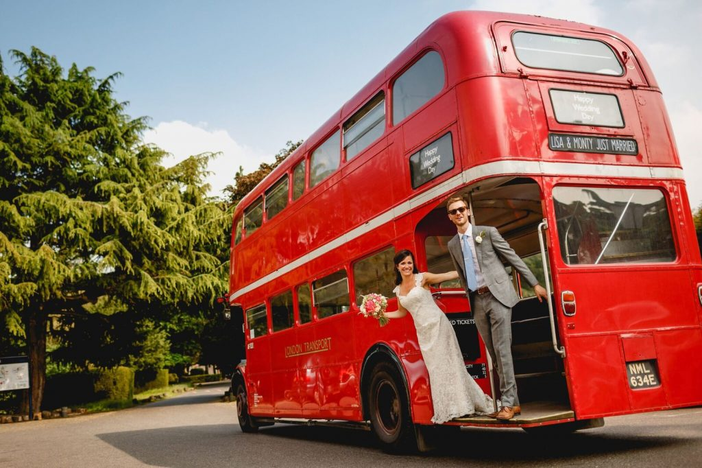 fun wedding on a a bus event catering